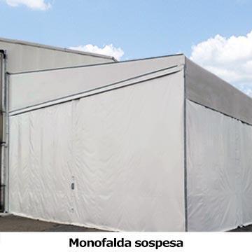 tettoia in pvc monofalda sospesa