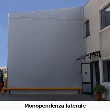 capannone mobile in pvc monopendenza laterale