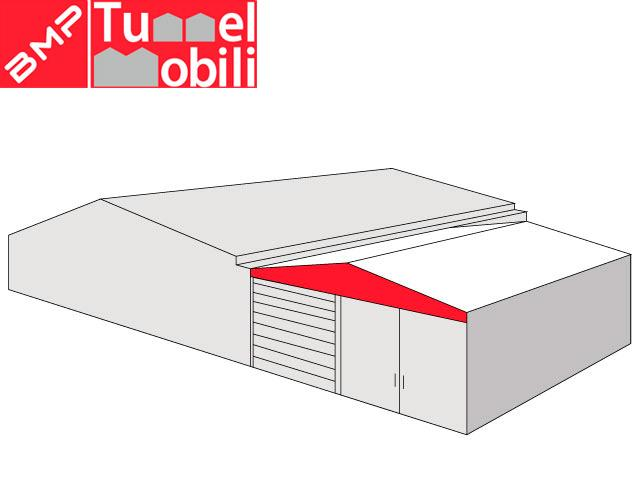 copertura mobile bipendenza laterale in pvc