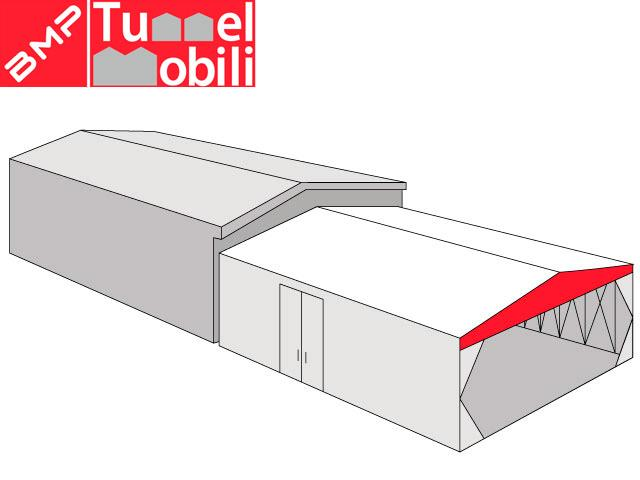 tunnel mobile frontale in pvc