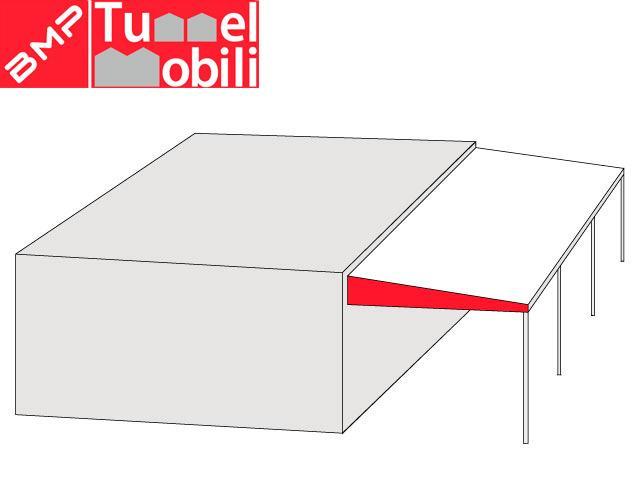 Copertura industriali in pvc mobile monofalda sospesa