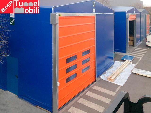 Capannoni mobili in Molise porte industriali