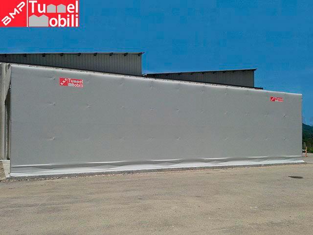 vista laterale capannoni mobili
