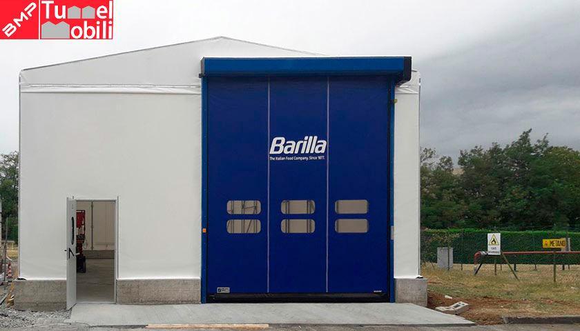 capannone pvc per lo stabilimento di Parma di Barilla