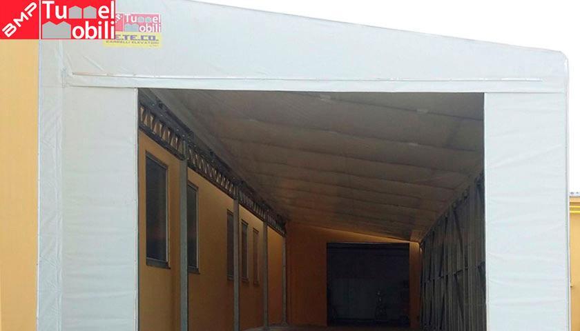 coperture mobili in pvc laterali a capannone esistente