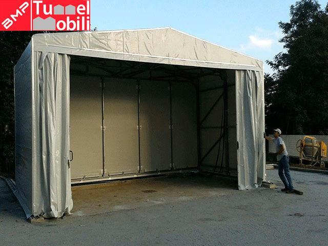 coperture mobili in pvc, realizzazione per Mizar