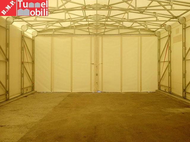 interno del capannone mobile retrattile