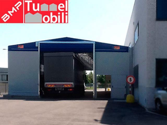 capannoni mobili per camion e macchinari