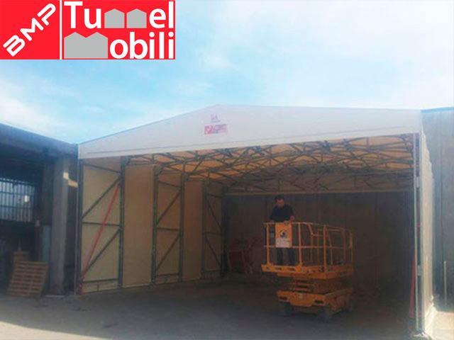 installazione tunnel mobili prato