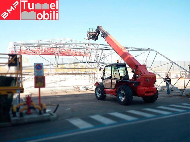 costruzione tunnel industriali