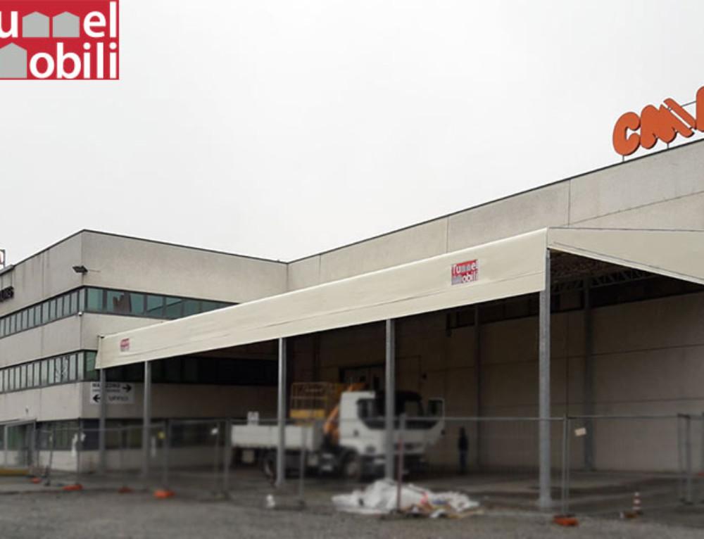 Una nuova tettoia pvc realizzata a Borgone Susa (TO) per l'azienda C.M.L. S.r.l.