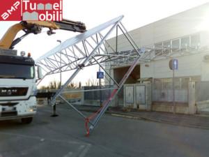 montaggio capannone mobile telo pvc