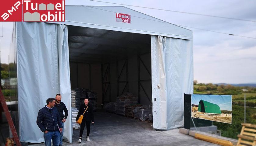 capannone mobile in pvc sassari