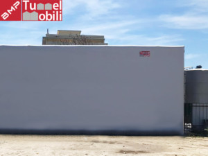 capannone mobile installato a Gallico
