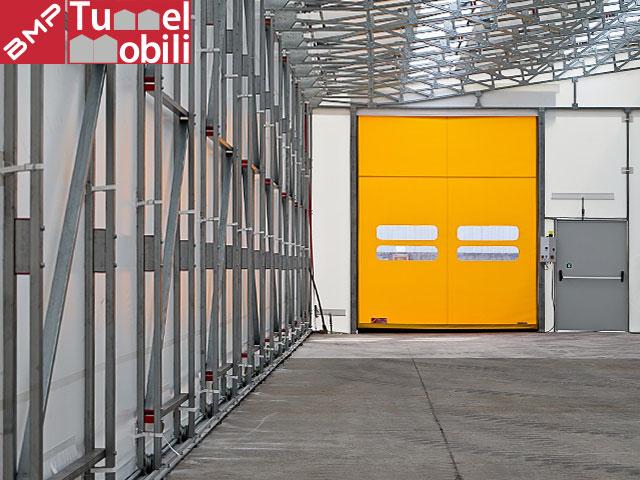 porta capannone telonato
