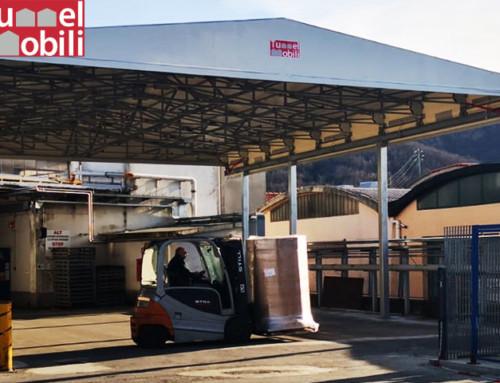 Tettoia industriale per l'industria automobilistica in provincia di Genova