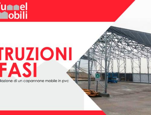 Istruzioni e fasi per l'installazione di un capannone mobile in pvc