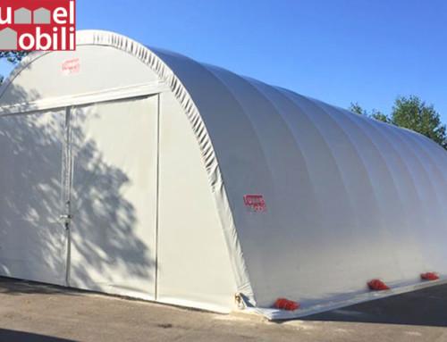 Tunnel ad arco per la protezione di macchine per la pulizia industriale