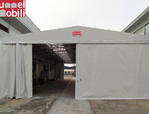Un nuovo capannone in pvc per un'azienda di Padova: com'è fatto?