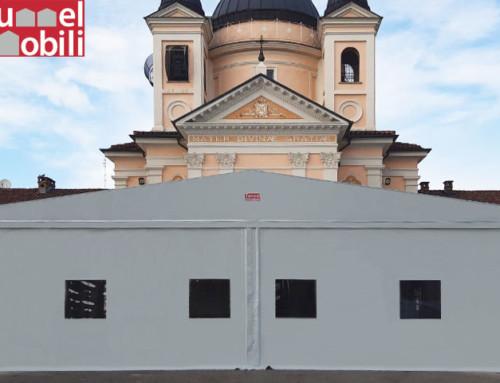 Una copertura in PVC per il santuario di Villanova D'Asti