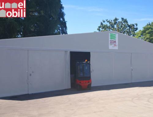 Un capannone mobile per aumentare gli spazi coperti di SEIM S.r.l.