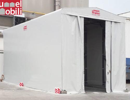 Un capannone in telo per aumentare gli spazi di un'industria alimentare