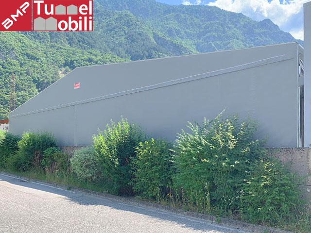 Tunnel pvc bifalda sospesa
