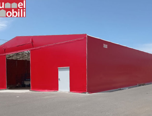 Coperture in pvc in Sardegna: un capannone mobile per CORSTYRÈNE